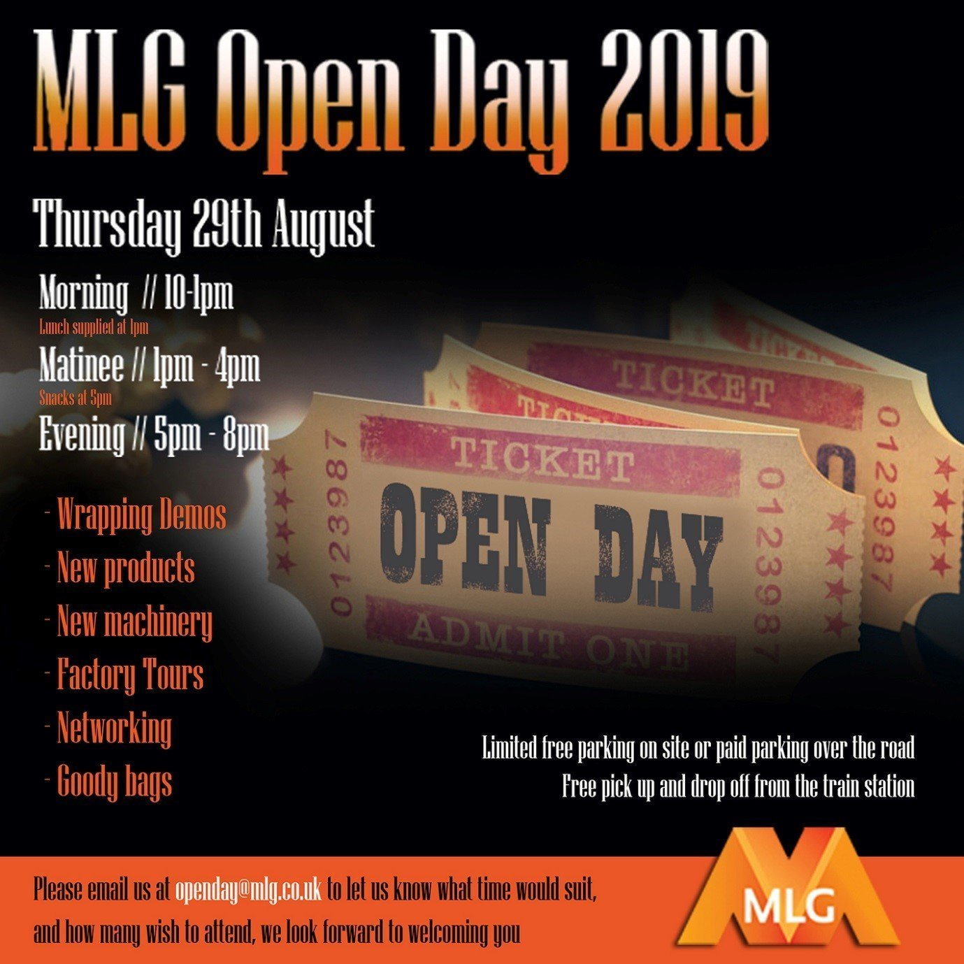 McAllister Litho Glasgow Open Day 29th Aug 2019